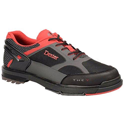 Dexter Red Schuhe (Dexter Herren Die 9Die 9HT BLK/Gry/RED, breit, schwarz/rot/grau, Größe 10.0)