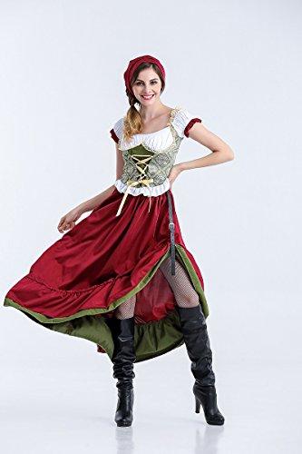 erfest Kostüm Rock Maid Kostüm Female Pirate Halloween Kostüm für Frauen (Size : L) ()