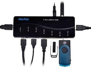 HooToo® 7 Port USB 3.0 Hub mit 3A Netzteil / Stromanschluss und USB 3.0 Kabel [VIA VL812 Chipsatz]