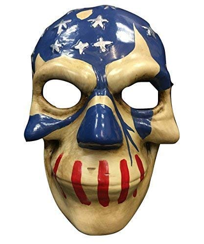 (The Purge Maske USA Flagge aus Wahl Year 3 Film Cosplay Halloween - Hartplastik Universal Maske)