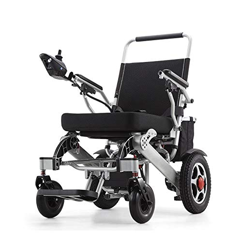 Yuiop Silla de Ruedas eléctrica Liviana Silla motorizada Plegable motorizada para discapacitados,...