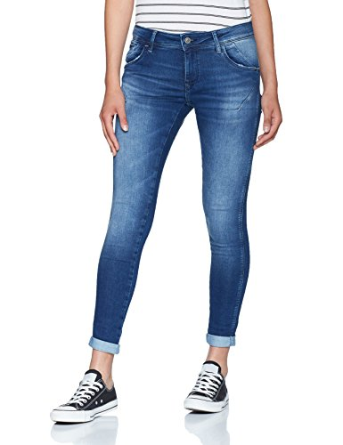 Mavi Damen Lexy Skinny Jeans, Blau (Mid Brushed Glam 24055), W27 Brushed Denim