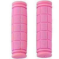 Cubierta Suave De Goma Del Manillar De Agarre Antideslizante Para Fixie Mtb Bicicleta De Color Rosa