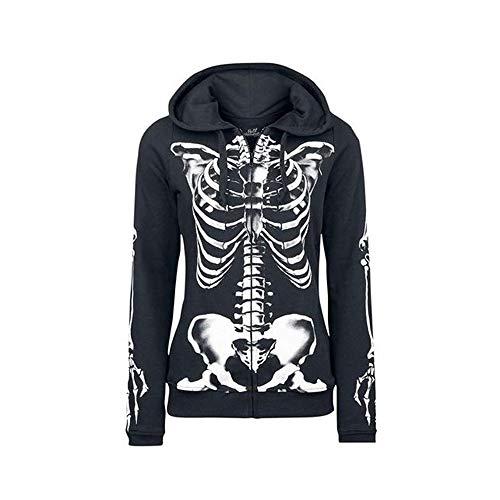 Bingotrade Frauen Schädel Halloween Gothic Kapuzenpullover Langarm Hoodie Sweatshirt Mantel (Aeropostale Hoodies Frauen)