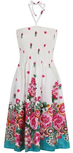 pistachio-2in-1da-donna-estivo-in-cotone-vacanza-vestito-weie-blumen-50-52