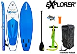 Explorer Stand-up-paddel Sunshine Sup, Mehrfarbig, 305 x 81 x 12,7cm
