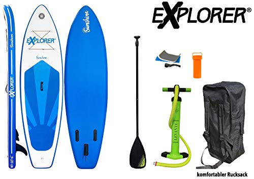Explorer Sunshine Sup Inflatable Stand Up Paddle Surf Board ISUP Hinchable...