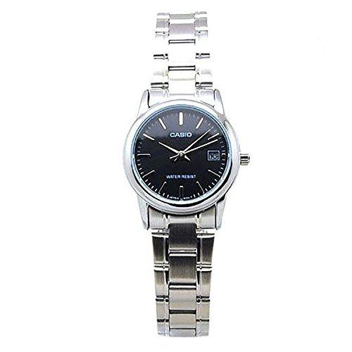 Casio-Reloj-con-movimiento-cuarzo-japons-LtpV002D1A-Plateado-35-mm