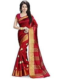Venisa Cotton Saree (Rp1001_Red)