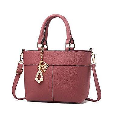 Damenmode PU Leder Messenger Umhängetaschen/Handtasche Tote Drak Red