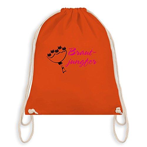 JGA Junggesellinnenabschied - Brautjungfer - Turnbeutel I Gym Bag Orange