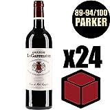 X24 Château La Gaffelière 2014 75 cl AOC Saint-Emilion Grand Cru 1er Grand Cru Classé B Rouge Rotwein