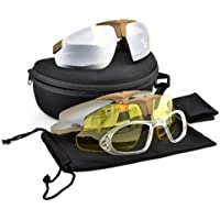 SPORTS GLASSES SHOOTING PROTECTION 3 LENSES FOR SOFTAIR SOFT AIR ROYAL SMOKE YELLOW 6055T