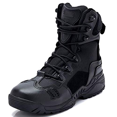 Männer Desert Military Combat Boots High Top Camping Klettern Taktische Stiefel Wandern Tan Dschungel Athletic Patrol Stiefel,Black-41 Lace Military Boots