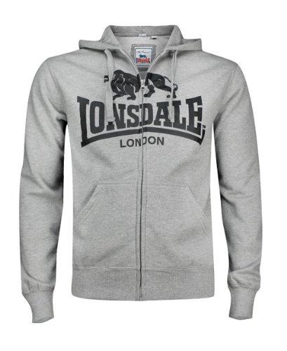 Lonsdale London Herren Sweatjacket 113096 KRAFTY Hooded Zipsweat black (1000)