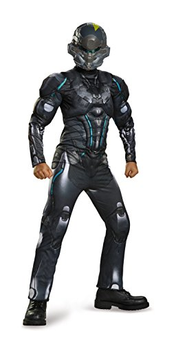 Kinder Kostüm Halo Spartan - Disguise Spartan Locke Classic Muscle Halo Microsoft Costume, Large/10-12