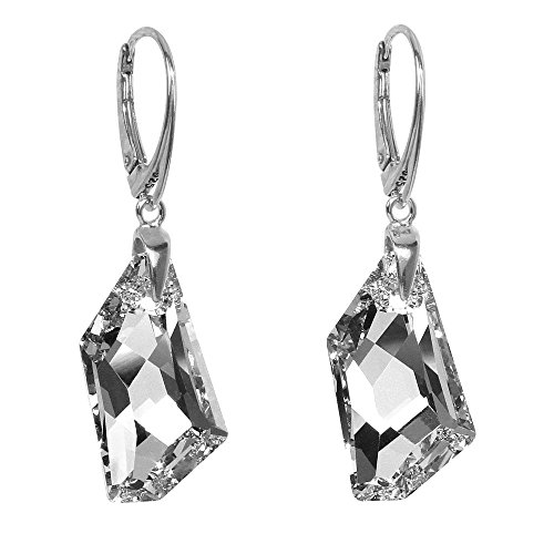 e2cbc8fbc84d SILVEGO Pendientes de plata con cristal Swarovski® Crystals De-Art 24 mm