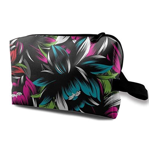 Reise-hängende Kosmetiktaschen Abstract Floral Neon Pattern Multi-Functional Toiletry Makeup Organizer hanging toiletry bag -