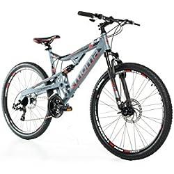 "Moma Bikes, Vélo VTT, EQX 27,5"", Aluminium, SHIMANO 24V, Freins a Disque, Double Suspension (Plusieurs Tailles)"