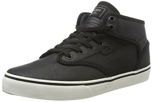 Globe Motley Mid, Herren High-Top, Schwarz (Black/Antique), 42 EU (8 UK) (Globe Kinder Schuhe)