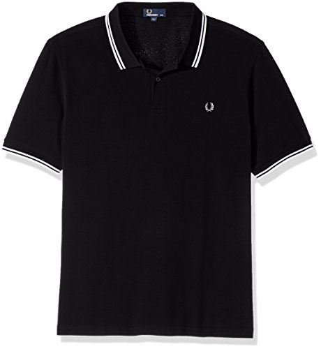 Fred Perry Herren Poloshirt Black/Porc/Porce