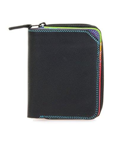 Mywalit - leder damen Geldbörse - small wallet w/zip around purse- 226-4 - Black Pace