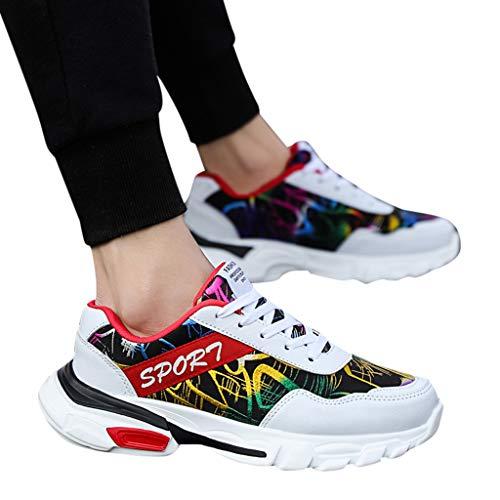 ABsoar Sneakers Herren Casual Joggingschuhe Sommer Atmungsaktive Studenten Partchwork Schuhe Männer Laufschuhe Turnschuhe Fitnessschuhe