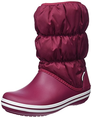 Crocs Women's Winter Puff Boot Snow, Red (Pomegranate/White 6D7), 7 UK