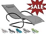 Meerweh Sale Luxus XXL Aluminium Schwingliege Swingliege Gartenliege Sonnenliege grau