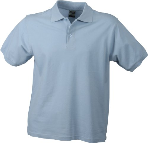 James & Nicholson Herren Poloshirt Mehrfarbig - Multicolore - Light-Blue