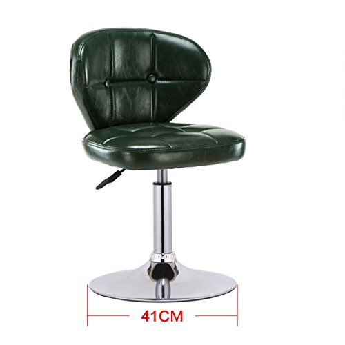GJM Shop tabouret pivotant à 360 ° réglable en hau Base 41cm Coussin Éponge En Similicuir Chaise De Bar Rétro Bar Chaise Haute Peut Lever Tabouret Haut Réception Dossier Tabouret De Bar --- Sponge + Leatherette / surface de chaise en bo ( Couleur : 5 )