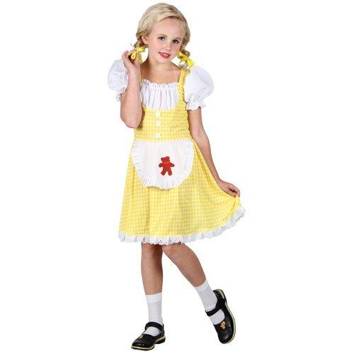 Goldilocks Kostüm - Märchenbuch Goldilocks Kostüm. Kleine 3-4 Jahre. Kleid mit Schürze und Haube.