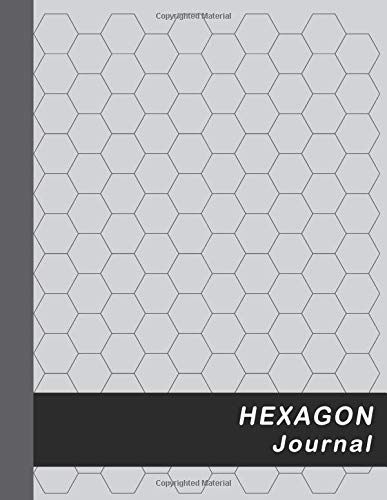 "Hexagon Journal: Large 0.5"" Hexes Hexagonal Graph Paper - Gray (Honeycomb Paper Notebook Large) por Red Dot"