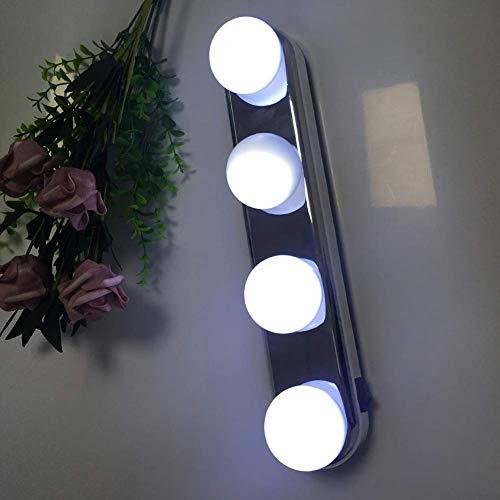 BAIF Hollywood-Art führte Kosmetikspiegel-Lichter, tragbares weißes Licht der Fülle-Licht-Badezimmer-Eitelkeit Lighting-4w - 4 Badezimmer-eitelkeit