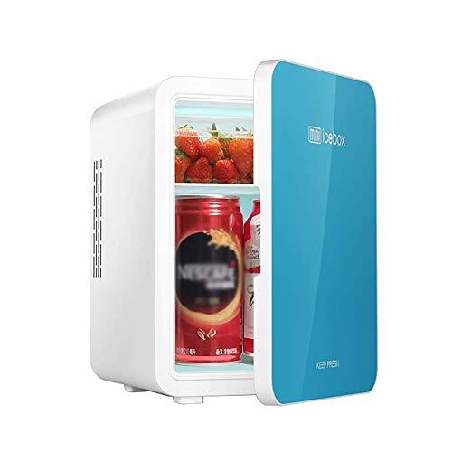 Kievy 4L Mini Kühlschrank Auto Kühlschrank Einzelprozessor Kühlung Extrem leise und geräuscharm Auto Mini Kühlschränke Gefrierschrank (Color : Blue) -
