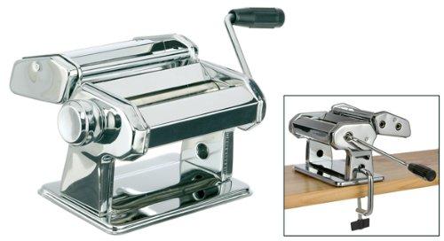 Haushalt International Máquina para Hacer Pasta, de Metal Cromado.