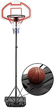 IDEALT Children Junior Outdoor Play Free Standing Portable Adjustable Basketball Hoop and Net System On Wheels