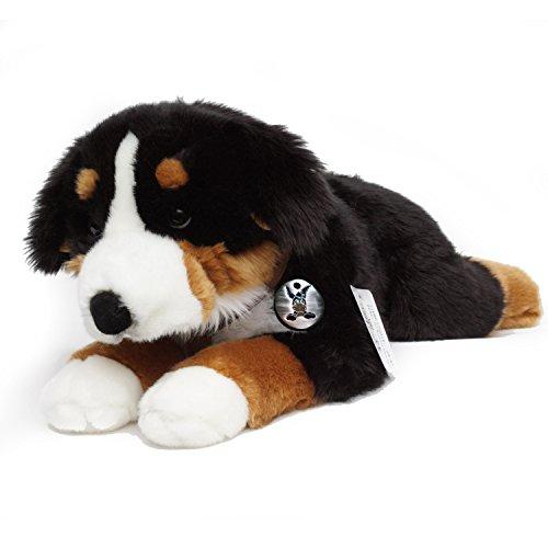 Berner Sennenhund FILOU mit Geschirr Schlenkerhund 65 cm Plüschtier von Kuscheltiere.biz