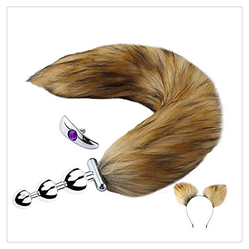 Z-one 1 Pop-Up-Spiel Stecker Fox/Dog Tail Anale und Stirnband Halloween Party Toy Set f¨¹r Paare m?nnlich weiblich M?nner Frauen
