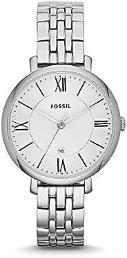 ساعة جاكلين من الستانلس ستيل للنساء من فوسيل - قطعة واحدة Es3433p , Standard, اسود