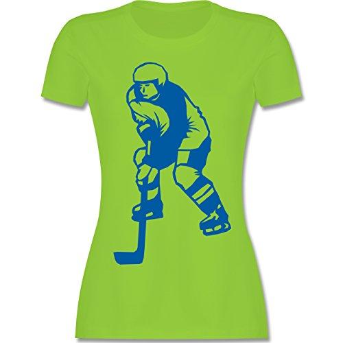 Eishockey - Eishockey - tailliertes Premium T-Shirt mit Rundhalsausschnitt für Damen Hellgrün