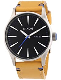 Nixon 0 - Reloj de cuarzo para hombre, con correa de cuero, color marrón