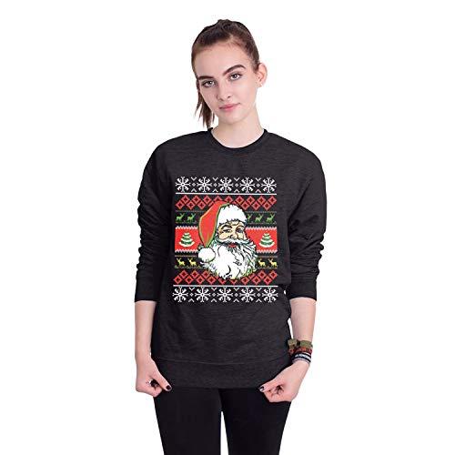 Damen Herren Sweatshirt Hoodies 2018 Europäische Und Amerikanische Erwachsene Weihnachtsmann Rundhals Langarm-Pullover, M, Santa Claus 3