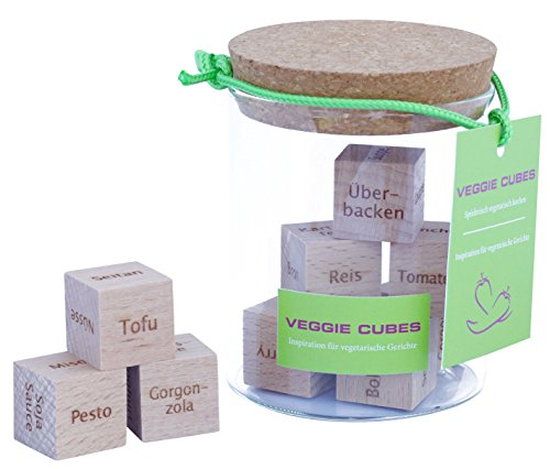 Image of Dieses Geschenk hat über 45.000 vegetarische Rezeptideen. Unglaublich? Warte bis du siehst wie es funktioniert. VEGGIE CUBES - Frisch und gesund kochen