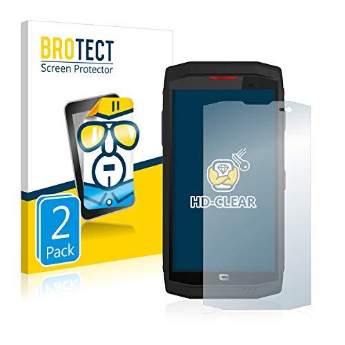 BROTECT Schutzfolie kompatibel mit Crosscall Trekker X3 [2er Pack] klare Bildschirmschutz-Folie