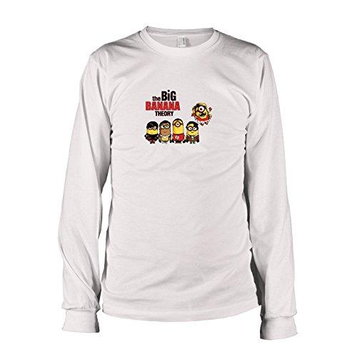 TEXLAB - Big Banana Theory - Langarm T-Shirt, Herren, Größe XXL, (Sheldon Und Freundin Kostüm)