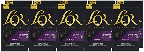 Choose L'OR Supremo Nespresso®* compatible Aluminium Capsules (Pack of 10, 100 capsules in total) - JDE