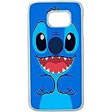 Lapinette COQUE-S6-EDGE-STITCH-BLEU - Funda carcasa para Samsung Galaxy S6 Edge diseño Disney Lilo E Stitch 2