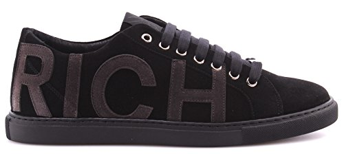 Scarpe Sneakers Uomo JOHN RICHMOND 5209 Variante G Suede Nero Black Camoscio ITA
