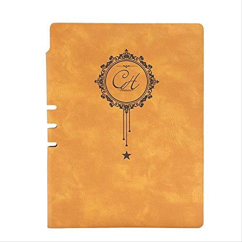 Notebook Stationery Leather Business Meeting Rekord A5 Paper Waterproof Diary Notepad Planner Bullet Journal Agenda Geschenkbüro A5 gelb -